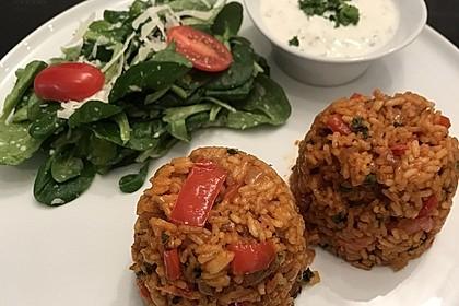 Paprika-Reispfanne mit Joghurtsauce 24