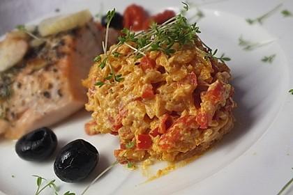 Paprika-Reispfanne mit Joghurtsauce 23