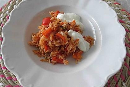 Paprika-Reispfanne mit Joghurtsauce 56