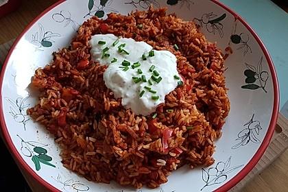 Paprika-Reispfanne mit Joghurtsauce 17