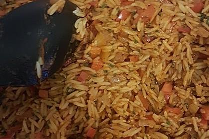 Paprika-Reispfanne mit Joghurtsauce 64