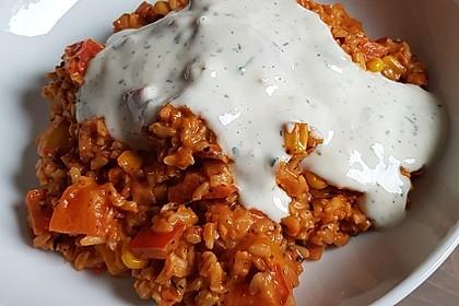 Paprika-Reispfanne mit Joghurtsauce 15