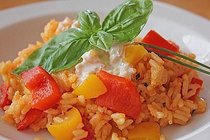 Paprika-Reispfanne mit Joghurtsauce 2