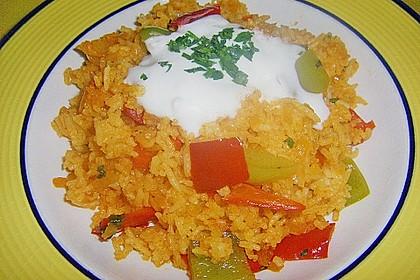 Paprika-Reispfanne mit Joghurtsauce 47