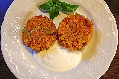 Paprika-Reispfanne mit Joghurtsauce 6