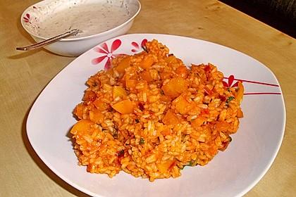 Paprika-Reispfanne mit Joghurtsauce 29