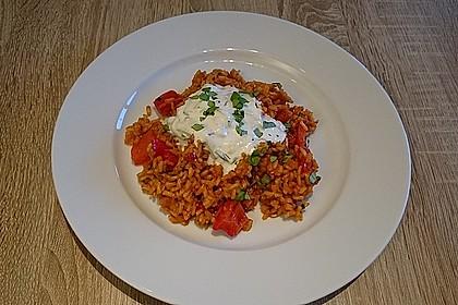Paprika-Reispfanne mit Joghurtsauce 11