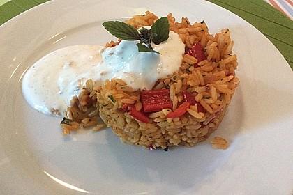 Paprika-Reispfanne mit Joghurtsauce 13