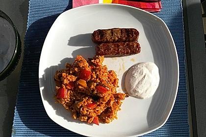 Paprika-Reispfanne mit Joghurtsauce 39