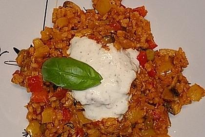 Paprika-Reispfanne mit Joghurtsauce 42