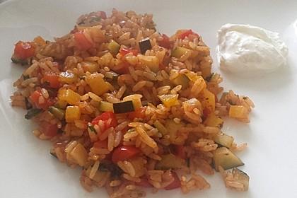 Paprika-Reispfanne mit Joghurtsauce 49