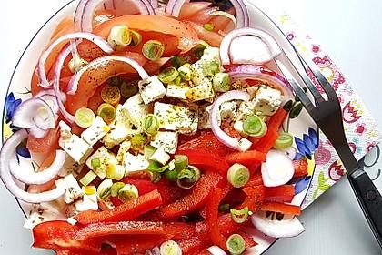 Paprika - Zwiebel - Salat 9