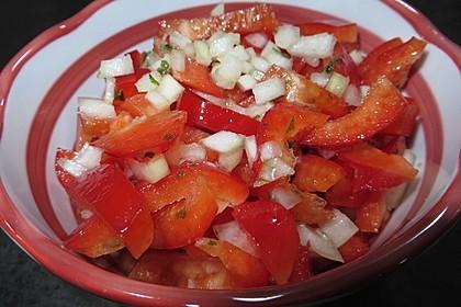 Paprika - Zwiebel - Salat 5