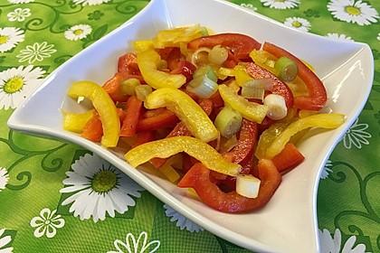 Paprika - Zwiebel - Salat 1