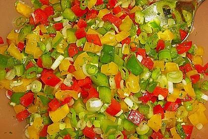 Paprika - Zwiebel - Salat 8
