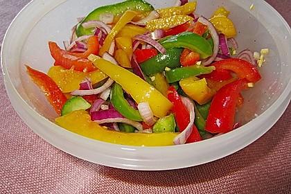Paprika - Zwiebel - Salat 3