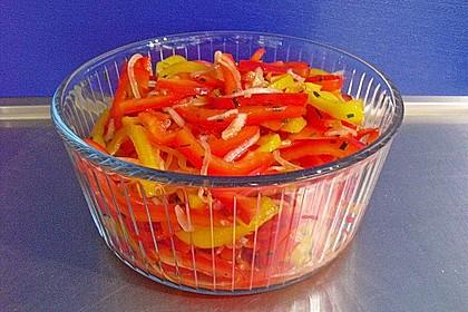 Paprika - Zwiebel - Salat 16
