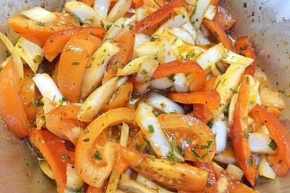 Paprika - Zwiebel - Salat 15