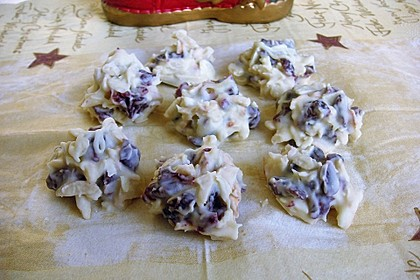 Weiße Mandelsplitter mit Cranberries 14