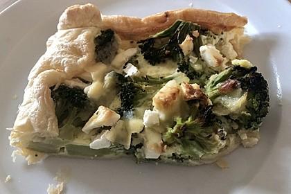 Blätterteig - Quiche mit Brokkoli und Camembert 28