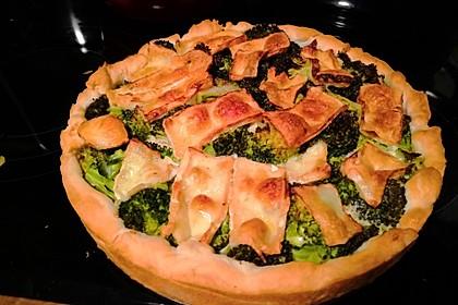 Blätterteig - Quiche mit Brokkoli und Camembert 8