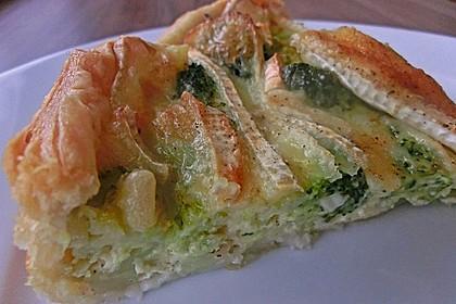 Blätterteig - Quiche mit Brokkoli und Camembert 12