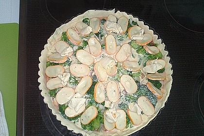 Blätterteig - Quiche mit Brokkoli und Camembert 14