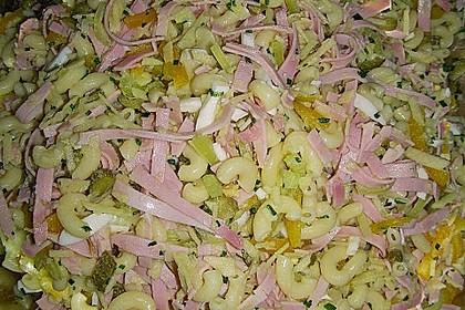 Nudelsalat mit Schinken und Äpfel 5