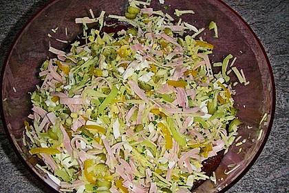 Nudelsalat mit Schinken und Äpfel 2