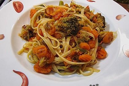 Gemüse - Spaghetti - Pfanne
