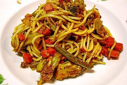 Gemüse - Spaghetti - Pfanne 2