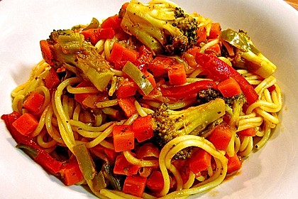 Gemüse - Spaghetti - Pfanne 1