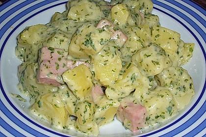 Petersilienkartoffeln mit Fleischwurst 7