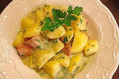 Petersilienkartoffeln mit Fleischwurst 4