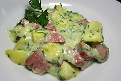Petersilienkartoffeln mit Fleischwurst 1