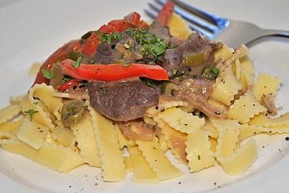 Rindfleisch - Geschnetzeltes mit Paprika (Bild)