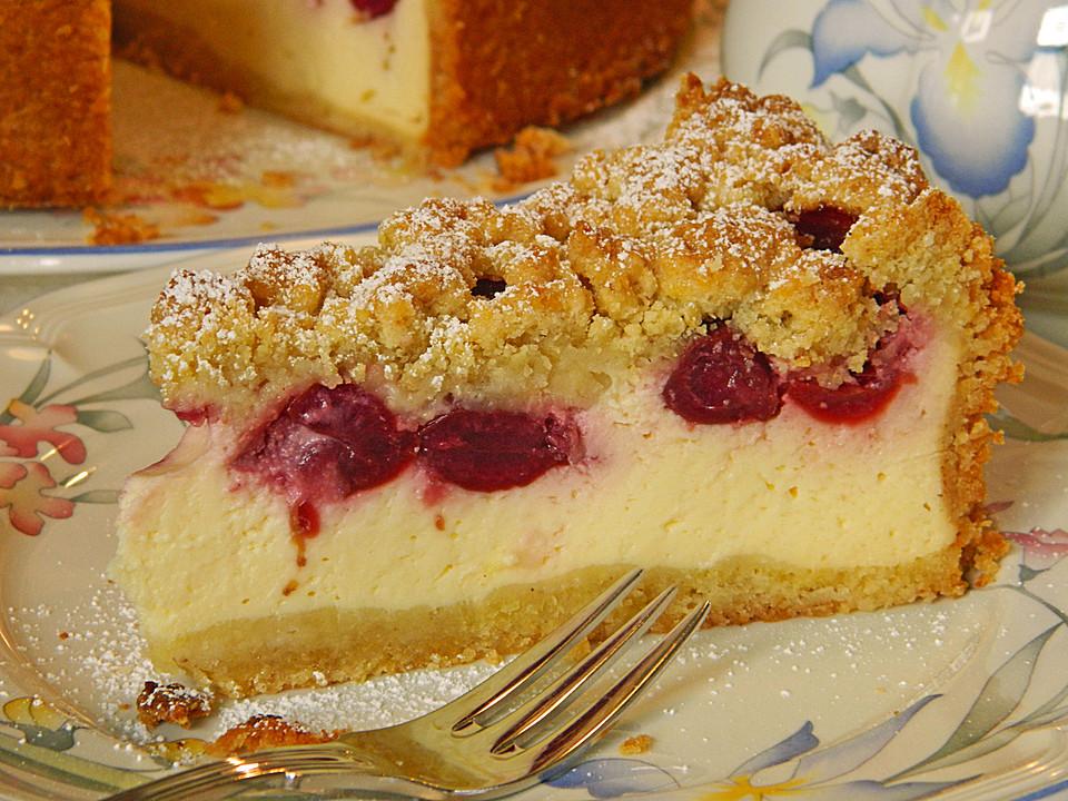 Quark Streuselkuchen Mit Kirschen Von Alcar75 Chefkoch De