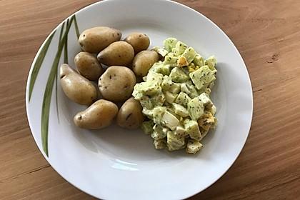 Kartoffeln mit Gurkensauce und Ei 1