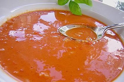 Tomatensuppe mit Reis 2