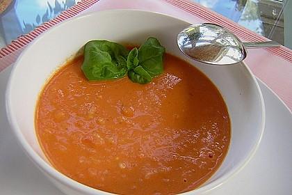 Tomatensuppe mit Reis 1