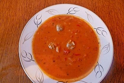 Tomatensuppe mit Reis 9