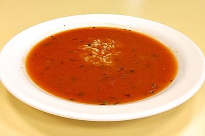 Tomatensuppe mit Reis 4
