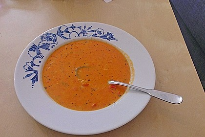 Tomatensuppe mit Reis 3
