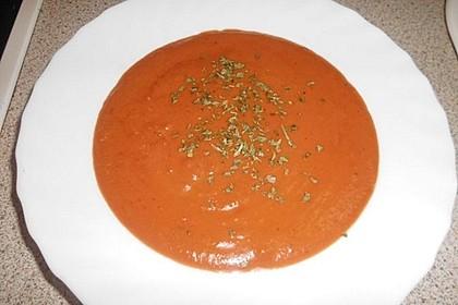 Tomatensuppe mit Reis 5