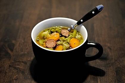 Frische grüne Bohnensuppe 1
