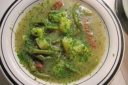 Frische grüne Bohnensuppe 2