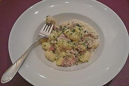 Gnocchi in Weißwein - Soße mit Schinken 1