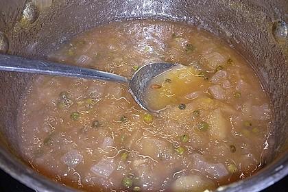 Apfel - Zwiebel Chutney mit grünem Pfeffer von Rosinenkind 2