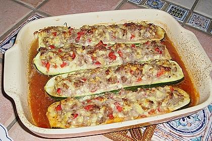 Zucchini lecker gefüllt 2