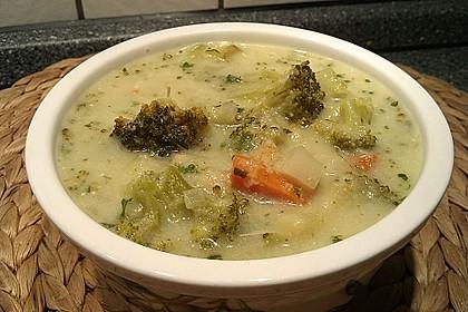 Dinkelgrieß - Brokkoli - Suppe 2